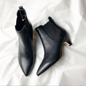 New Sam Edelman Katt Kitten Heel Black Booties 7.5